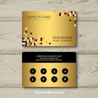 Modèle de carte de fidélité avec style doré