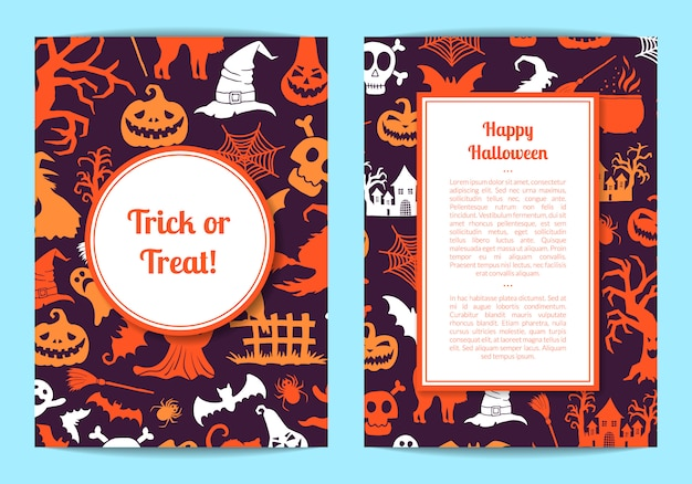 Modèle de carte ou flyer halloween