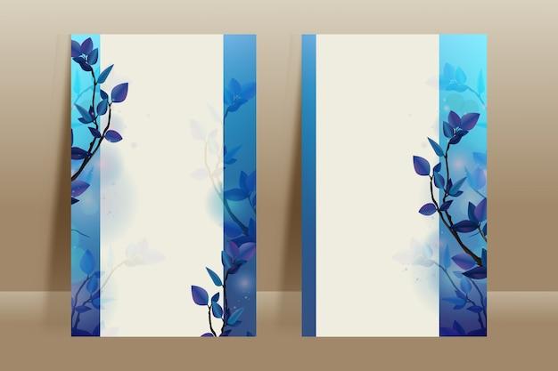 Modèle de carte fond de fleur d'hiver avec espace copie