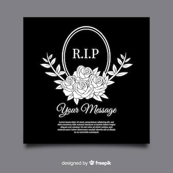 Modèle de carte de funérailles