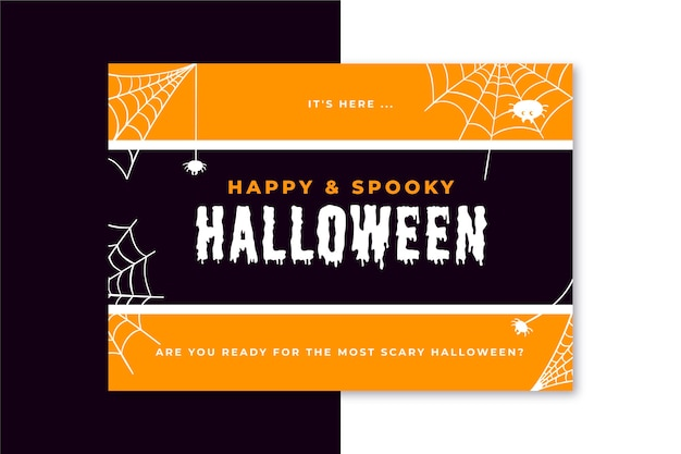 Modèle de carte halloween