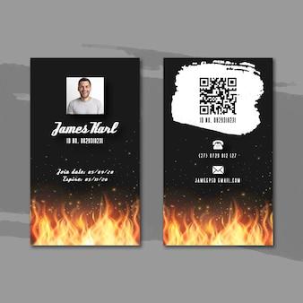 Modèle de carte d'identité barbecue