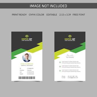 Modèle de carte d'identité de bureau simple