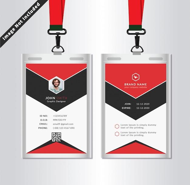 Modèle de carte d'identité de bureau