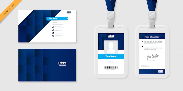 Modèle de carte d'identité et carte de visite