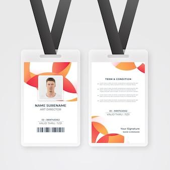 Modèle de carte d'identité d'employé