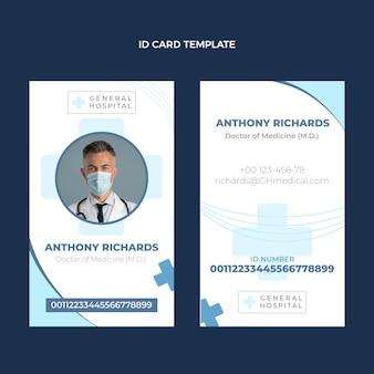 Modèle de carte d'identité médicale design plat