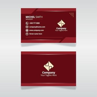 Modèle de carte d'identité modifiable pour l'organisation et l'employé de couleur rouge