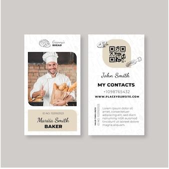Modèle de carte d'identité de pain avec photo