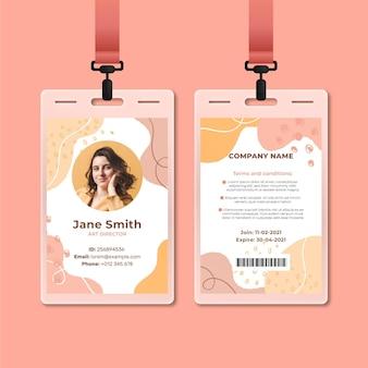 Modèle de carte d'identité avec photo