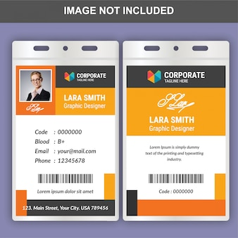 Modèle de carte d'identité plat