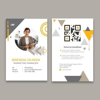 Modèle de carte d'identité pour les entreprises générales