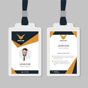 Modèle de carte d'identité professionnelle avec des formes