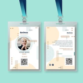 Modèle de carte d'identité professionnelle générale