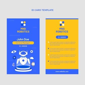 Modèle de carte d'identité de technologie minimale de conception plate