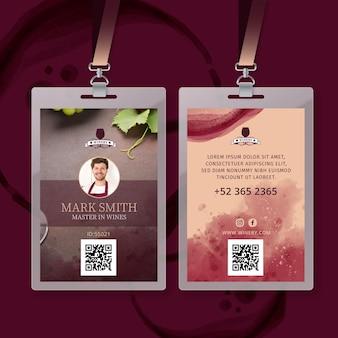 Modèle de carte d'identité de vin