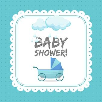 Modèle de carte invitation bébé douche