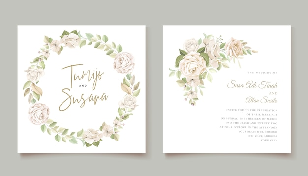 Modèle de carte d'invitation de belles roses
