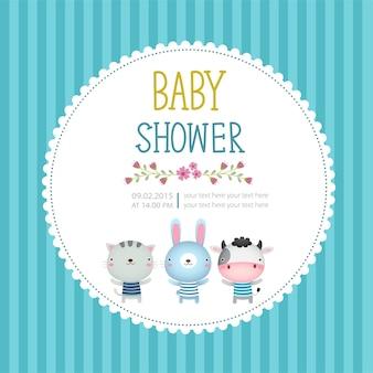 Modèle de carte d & # 39; invitation de douche de bébé