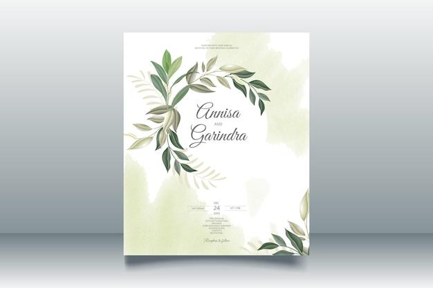Modèle de carte d'invitation de mariage floral romantique