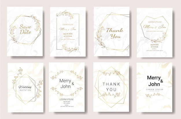 Modèle de carte invitation mariage floral