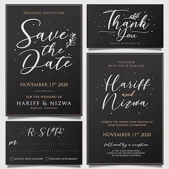 Modèle de carte d'invitation de mariage simple génial avec des décorations de fleurs