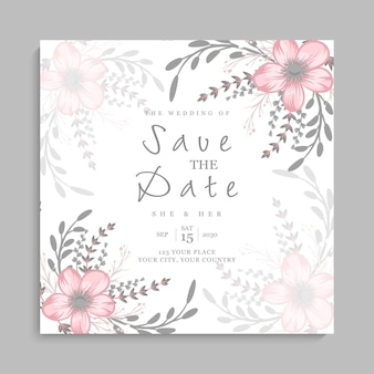 Modèle de carte d'invitation de mariage
