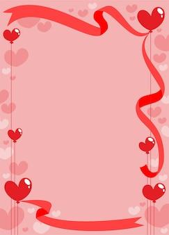 Modèle de carte d'invitation romantique