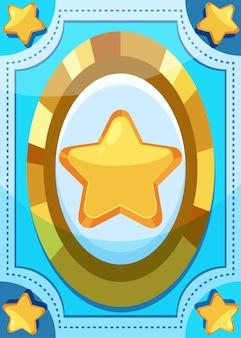 Modèle de carte de jeu de grande étoile