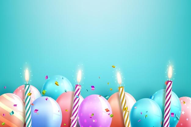 Modèle de carte de joyeux anniversaire avec place pour le texte