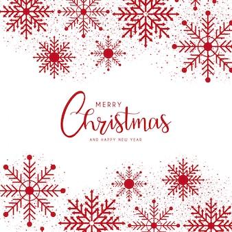 Modèle de carte de joyeux noël et bonne année