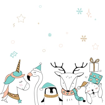 Modèle de carte de joyeux noël