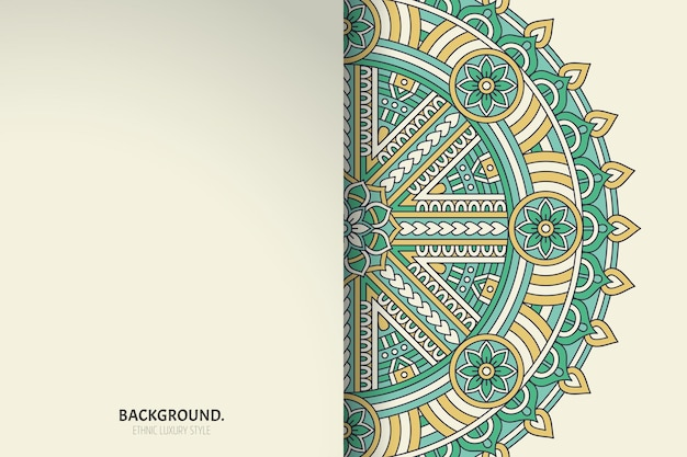 Modèle de carte de mandala. décoratif vintage.