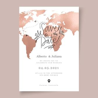 Modèle de carte de mariage minimal