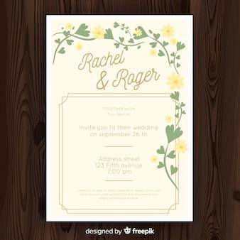 Modèle de carte de mariage