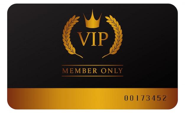 Modèle de carte de membre vip glamour
