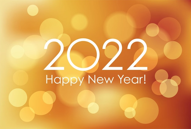 Le modèle de carte de nouvel an de l'année 2022 avec l'illustration vectorielle de fond abstrait
