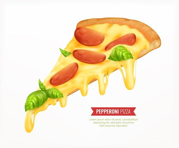 Modèle de carte de pizza au pepperoni