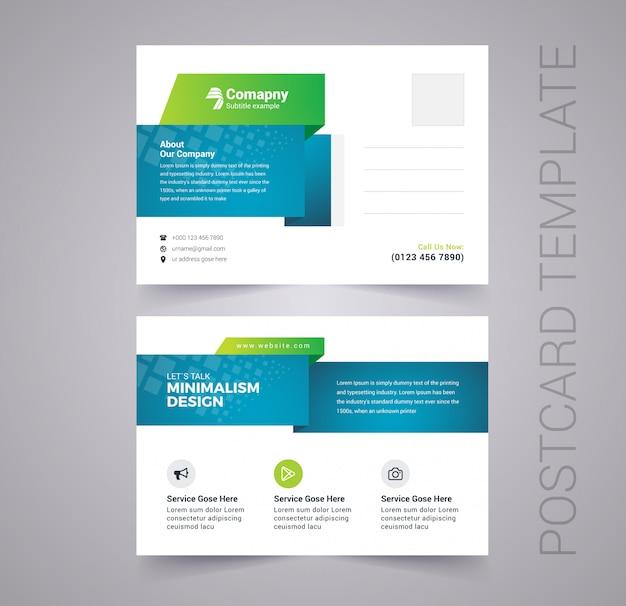 Modèle de carte postale d'entreprise