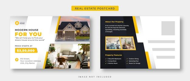Modèle De Carte Postale De L'immobilier Vecteur Premium