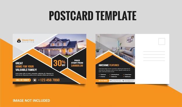 Modèle de carte postale immobilière premium