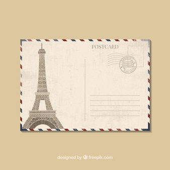 Modèle de carte postale de voyage dans le style plat