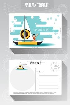 Modèle de carte postale