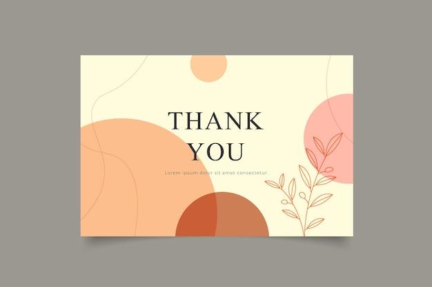 Modèle de carte de remerciement minimaliste abstrait