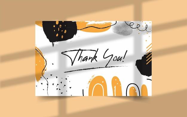 Modèle de carte de remerciement