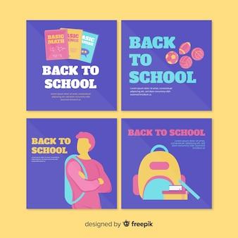 Modèle de carte de retour à l'école