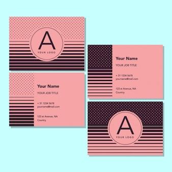 Modèle de carte rose d'affaires design