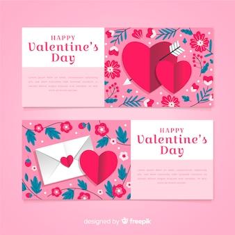 Modèle de carte de saint valentin mignon