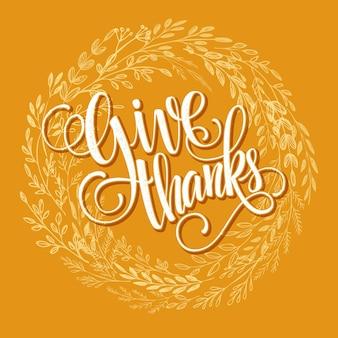 Modèle de carte de thanksgiving. feuilles d'automne de vecteur peint à l'aquarelle. illustration vectorielle eps 10