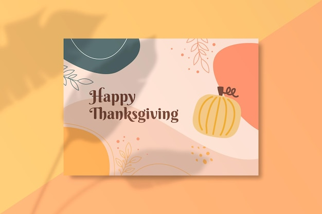 Modèle de carte de thanksgiving